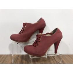 Bordo Casual Deri 36 N Topuklu Ayakkabı