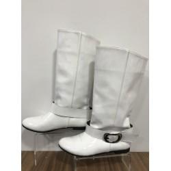 Beyaz Casual Deri 38 N Düz Çizme