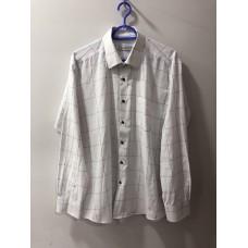 Beyaz Siyah Kare Desenli Erkek Gömleği