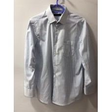 Beyaz Açık Mavi Çizgili Erkek Gömleği