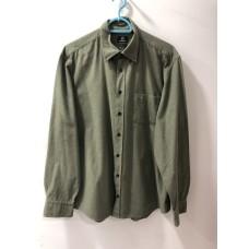 Asker Yeşili Renginde Erkek Gömleği - 1