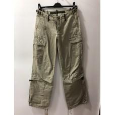 Bataklık Yeşili Renginde Deri Erkek Pantolonu - 1