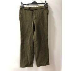 Bataklık Yeşili Renginde Deri Erkek Pantolonu - 2