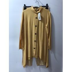 Hardal Sarısı Pantolon Gömlek Takım