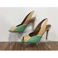 Yeşil Casual Deri 38 N Topuklu Ayakkabı