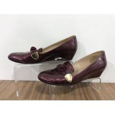 Bordo Casual Deri 39 N Kısa Topuk Ayakkabı